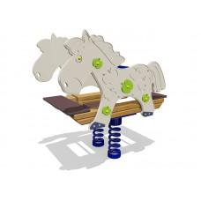 Качели-балансир на пружине Конь