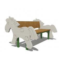 """Скамейка детская """"Конь"""""""