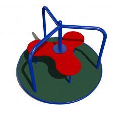 Карусель с полом из резиновой крошки
